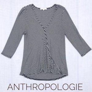 ERI & ALI Anthropologie Striped Blouse